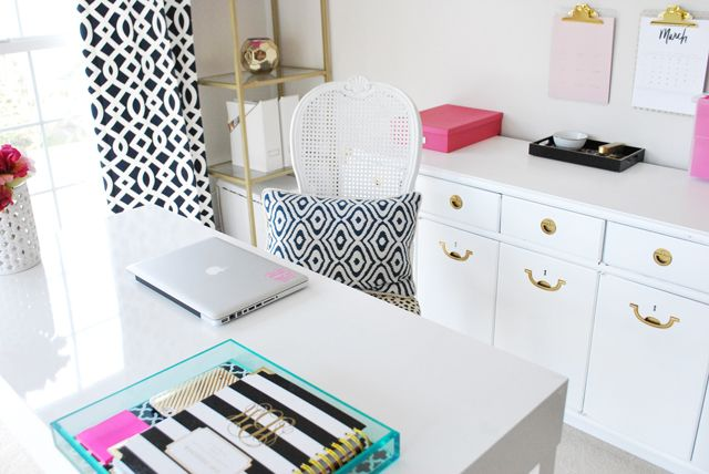 Operation: Organization Amy's Organized {Kate Spade Inspired} Office Space   11 Magnolia Lane