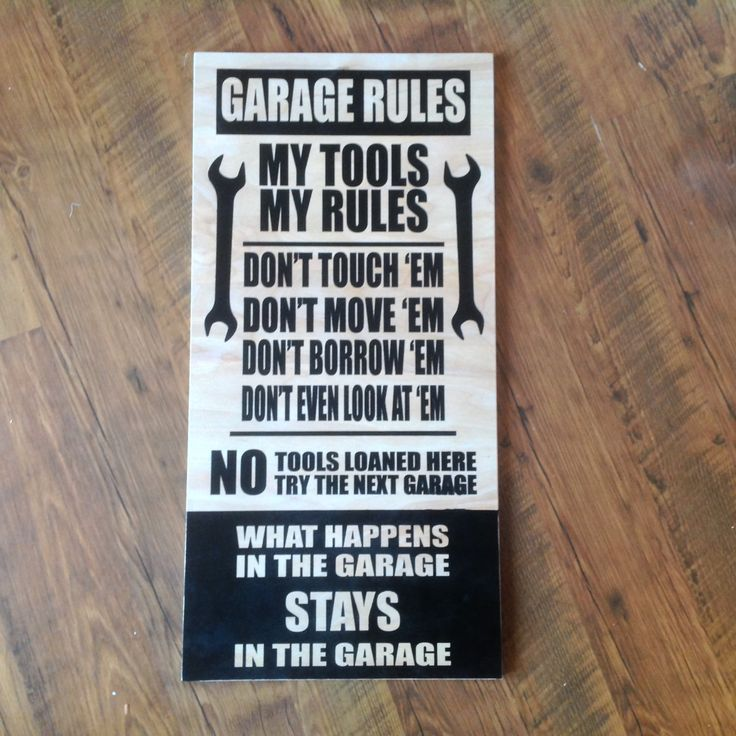 Garage Rules Custom Wood Signs Wall Decor Gifts For Dad