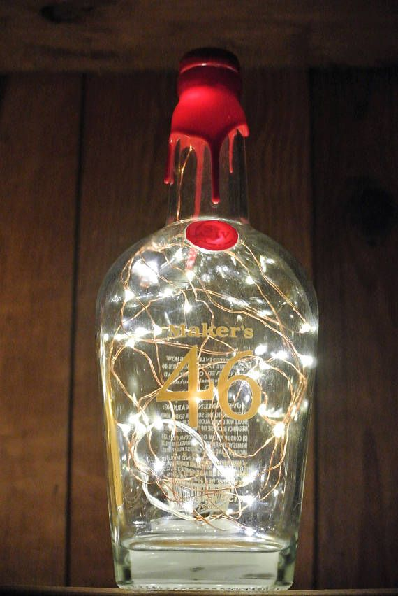 Makers Mark 46 lighted bottle makes for a sparkling gift!  Get yours by clicking on the picture. #lookingsharpcactus