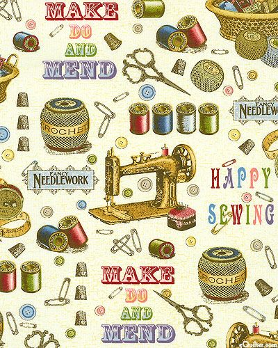 BEMEN2IV  Make Do & Mend - For The Love Of Sewing - Ivory