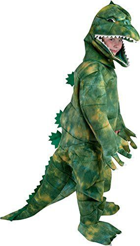 Child's Godzilla Costume. Parents like this because it's easy for the kid to see out of.