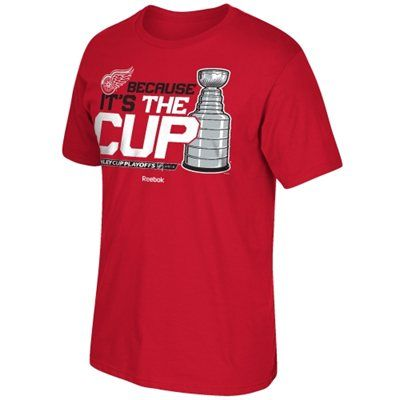 Men's Detroit Red Wings Reebok Red 2015 Stanley Cup Playoffs Because It's the Cup T-Shirt