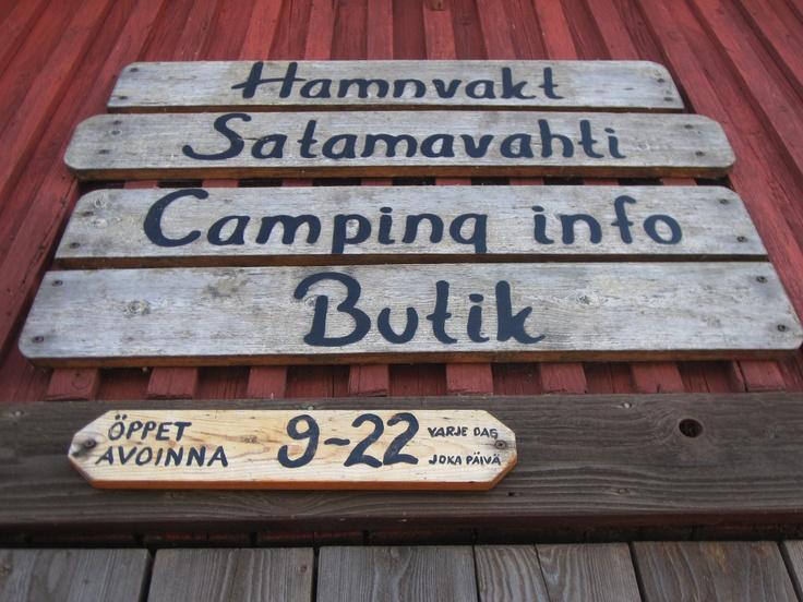 #A sign at Kökar
