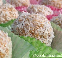 lemon vanilla rice krispie protein bites using Arbonne Protein powder..yummmm