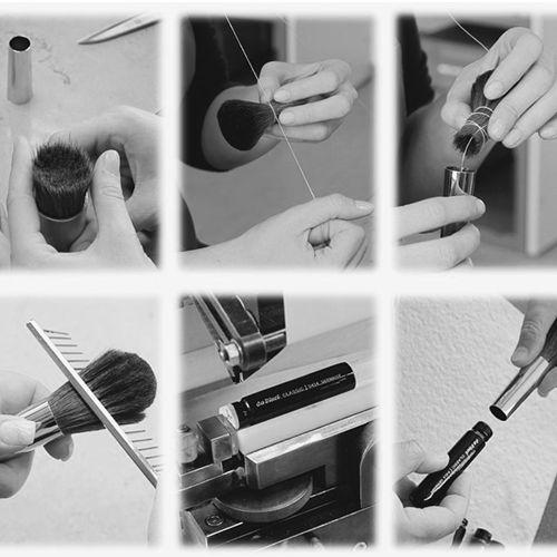 da Vinci Makeup Brushes #manufacturer #highquality #handmade #makeupbrushes #kosmetikpinsel #pinsel #handarbeit #professional #davinci
