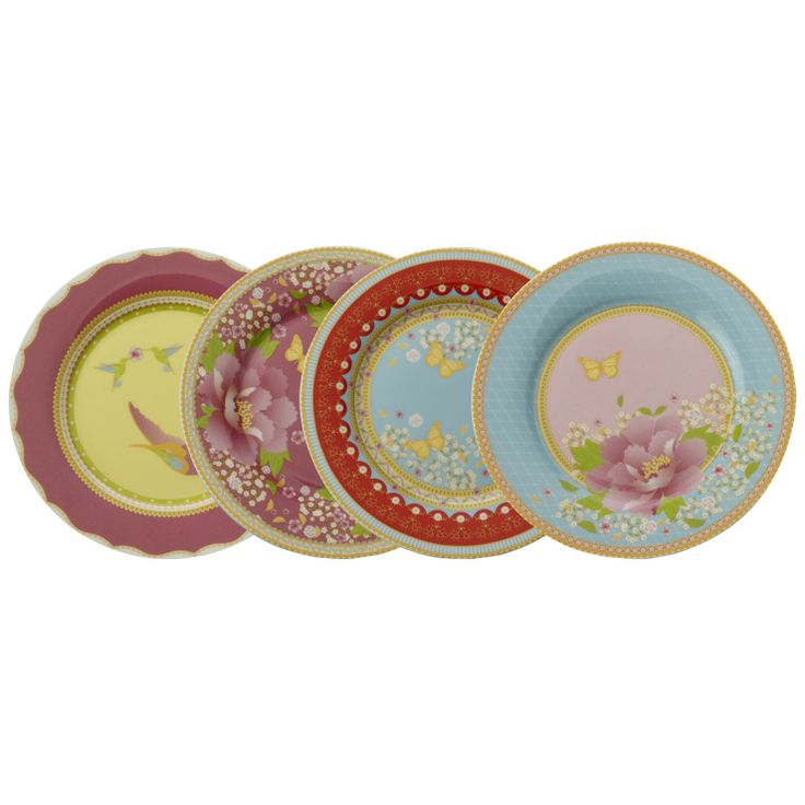 Maxwell & Williams Enchante Set of 4 Assorted Side Plates | ACHICA