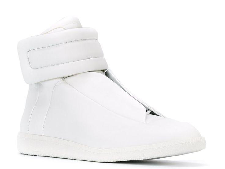 Sneakers alte Maison Margiela uomo in pelle bianco - Italian Boutique €416
