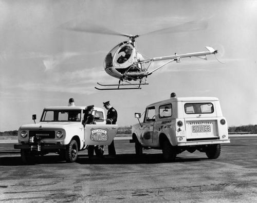 International Scouts and Helicopter Used by Atlanta Police | by Wisconsin Historical Images