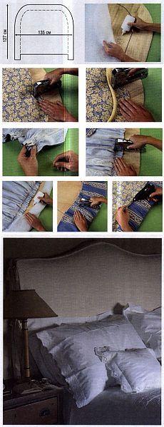 Как сделать мягкое изголовье своими руками | WomaNew.ru - уроки кройки и шитья!