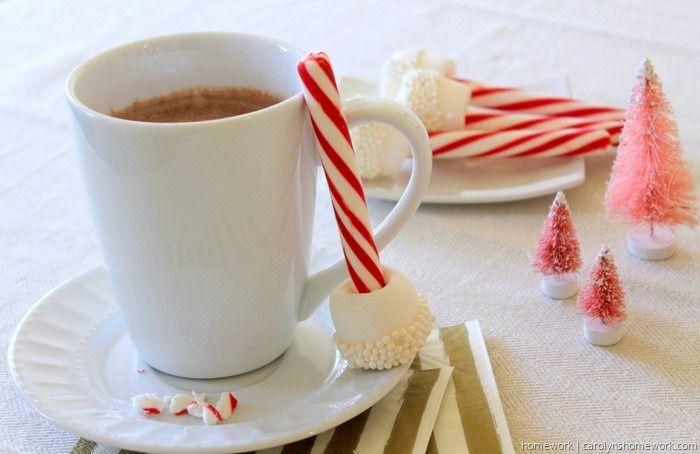 Marshmallow & Peppermint Stir Sticks via homework (1)
