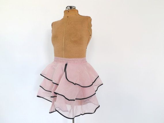 Vintage Sweet 1950s 60s Formal Dress Apron Ruffled Ballerina Apron Pink Cotton Voile Apron Kitchen Diner 50s Housewife Pin Up Girl Kitsch
