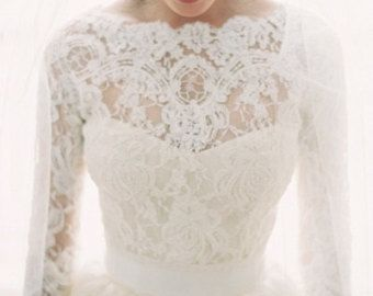NEW FABRIC WHITE color Featured in the Style Me Pretty Fashion & Beauty Magazine 2013 bridal lace top bridal lace lace bolero by angelikaliv