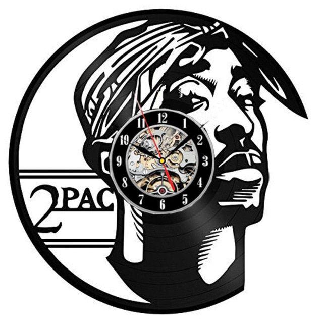 2pac Rap Music Vinyl Record Wall Clock Fan Art Handmade Decor