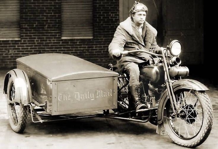 HD JD 1928 Harley Davidson Sidecar , Package Truck