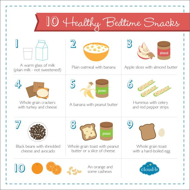 10 Quick & Healthy Bedtime Snacks (that help promote sleep!) #CloudB