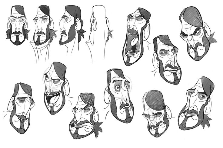 2d Animation Character Design Tutorial : Model sheet expressions d animation pesquisa google