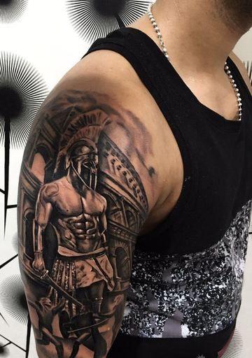 Realistas Y Unicos Tatuajes De Gladiadores Romanos Tatuajes En El