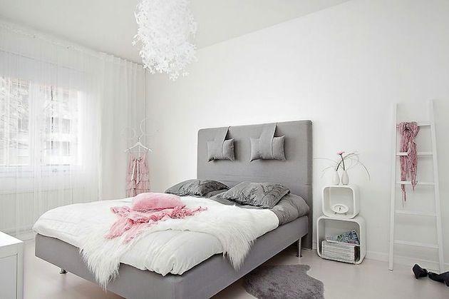 Красивая скандинавская спальня #scandinavianinterior #homedecor