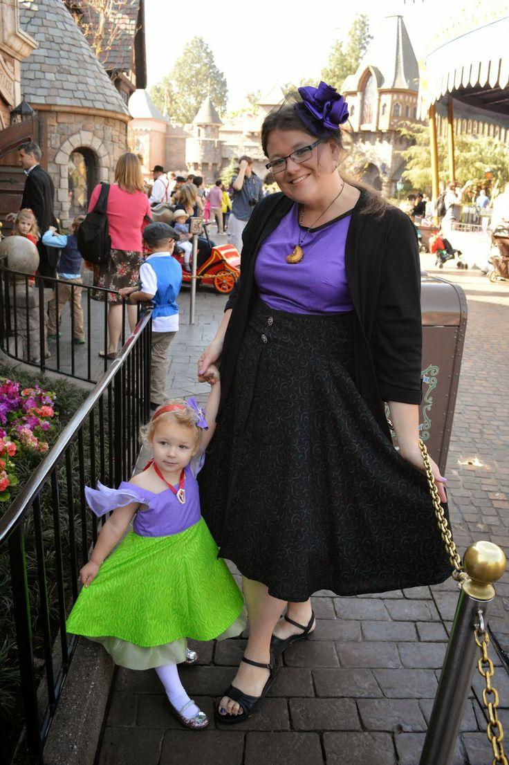 Ariel and Ursula dress for Dapper Day at Disneyland