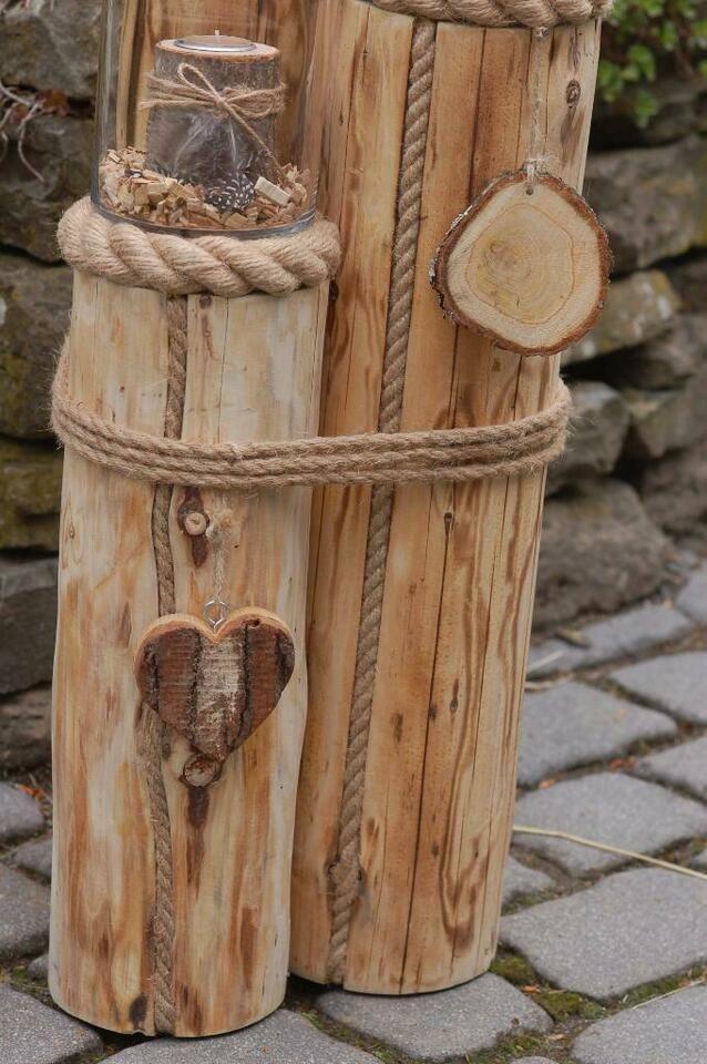 Windlichtsaulen Im 3er Set Maritim In Nordrhein Westfalen Reichshof Holzverzierungen Laternen Holz Holz Deko Selber Machen