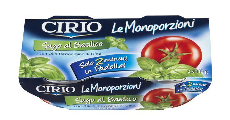 Le Monoporzioni #Cirio al #basilico L'unico ed esclusivo sugo pronto per condire un piatto di #pasta in soli 2 minuti!