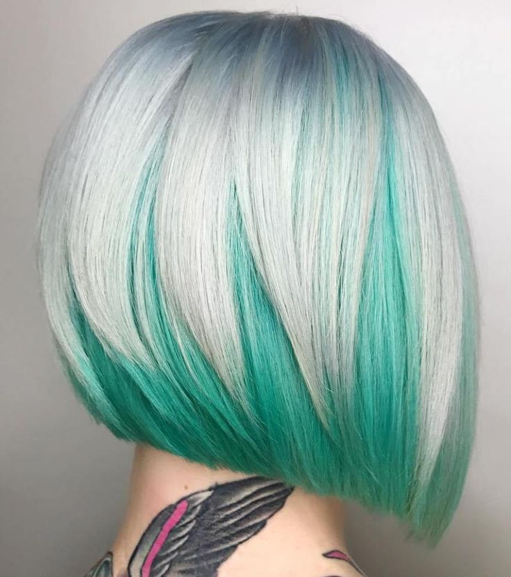 Silver And Teal Bob