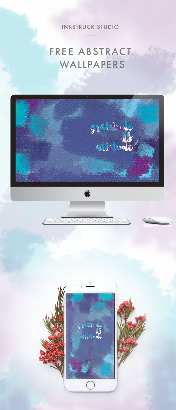 FREE ABSTRACT WALLPAPERS – GRATITUDE IS ATTITUDE