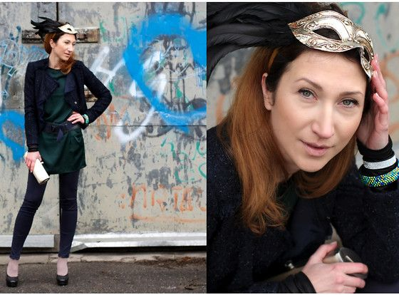 Liu Jo Jacket, Sisley Tunic, Zara Leggings, Dkny Belt