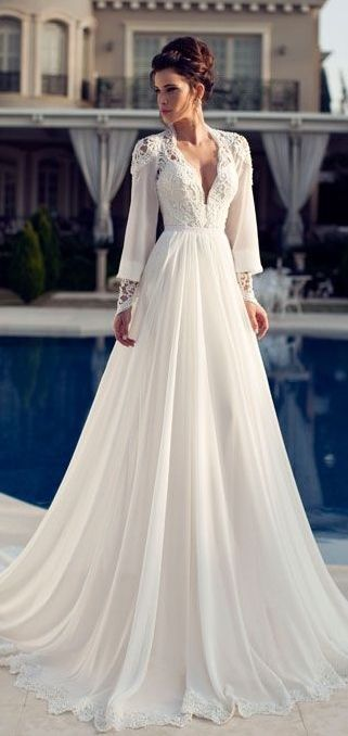 White Floor Length Dress with Crochet Designs