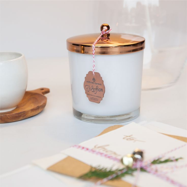 Aspen Bay Candles' new Holiday Collection - To & From || Frosted Currant, Juniper Twig, and Nutmeg & Amber
