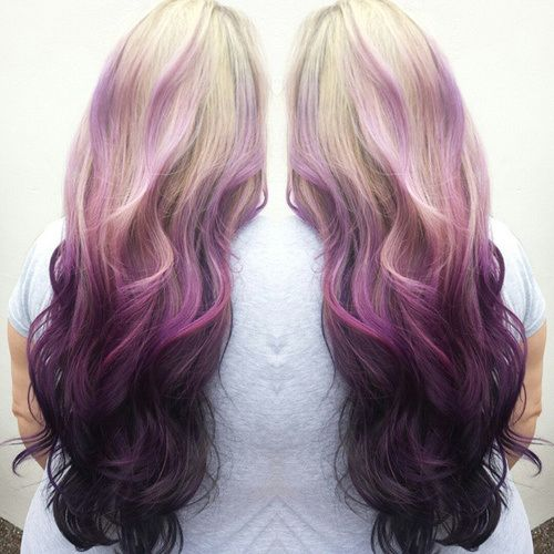 This is the effect I love just with different colors. Good example of reverse ombre.