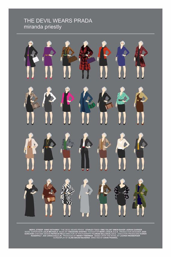 The Devil Wears Prada 'Miranda Priestly' all looks by thefilmfreak
