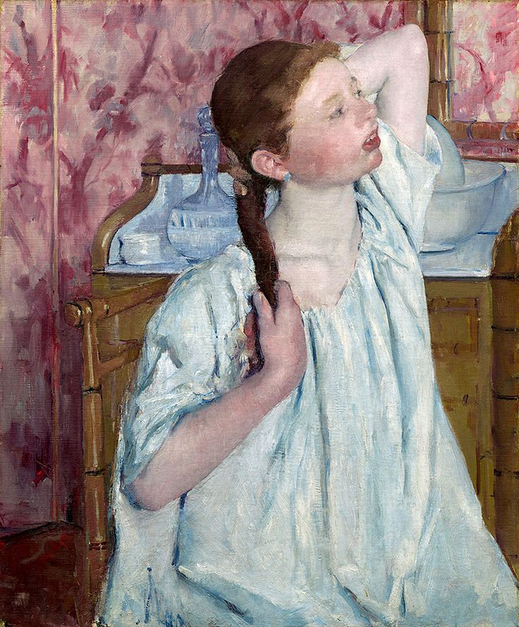 "Cassatt Mary - Girl Arranging Her Hair 1886 Copia  (from <a href=""http://www.oldpainters.org/picture.php?/51006/category/16491""></a>)"