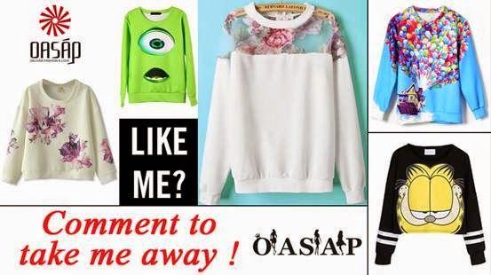 Giveaway OASAP Sweatshirt {Sponsor love}