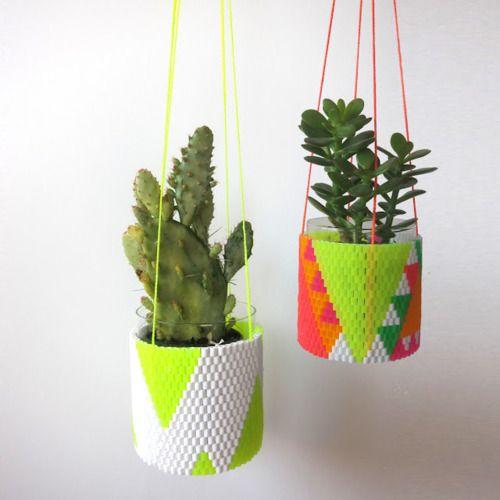 neon planter hangers