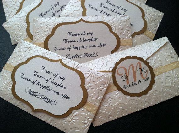 Tears of Joy tissue packets by TresChicPaperDesigns on Etsy, $1.75