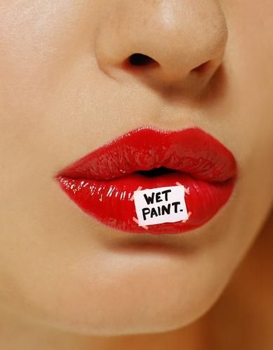Everything bare but mascara ,bronzer  & wet lips