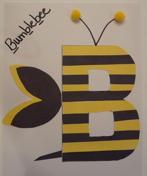 letra b artesanía abejorro