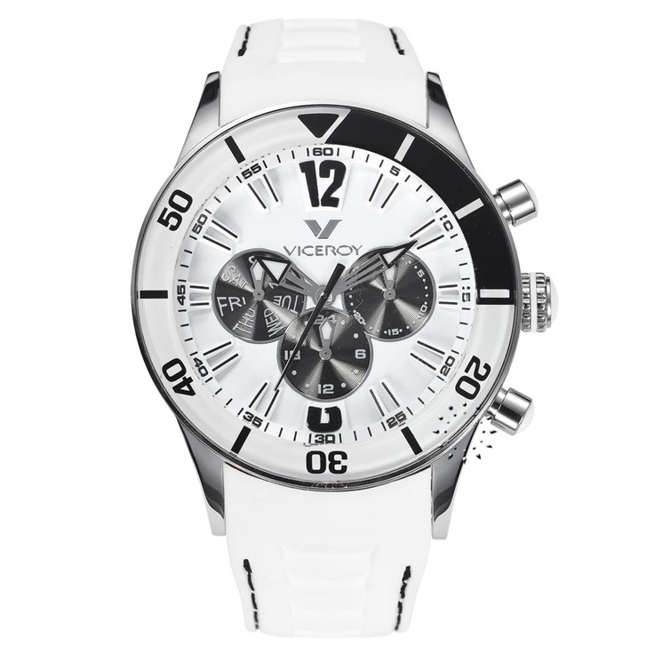 VICEROY Multifunction White Rubber Strap  138€  http://www.oroloi.gr/product_info.php?products_id=26807