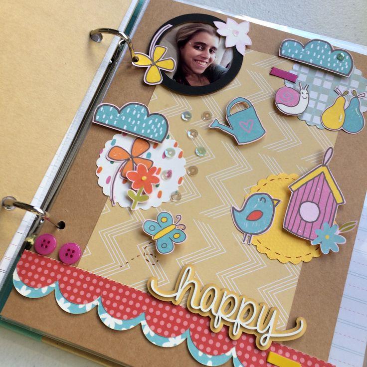 Página Smash Book/Criative Chãos ou Álbum  Lü Sielskis www.benditoscrap.com.br