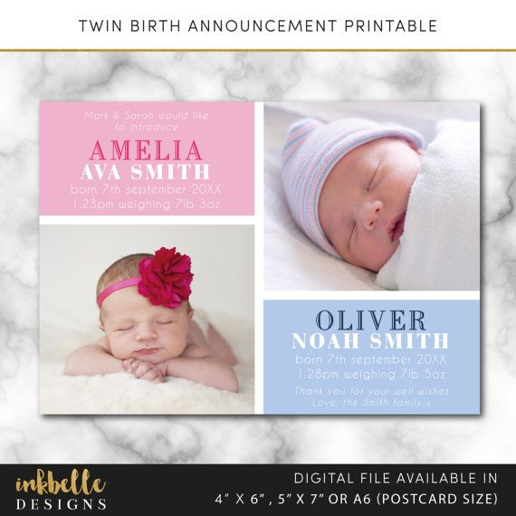 Twin Baby Girl Quotes: Best 25+ Twin Baby Announcements Ideas On Pinterest