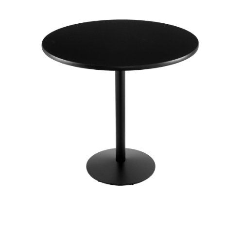 """42"""" 214 Black Table with 36"""" Diameter Top"""