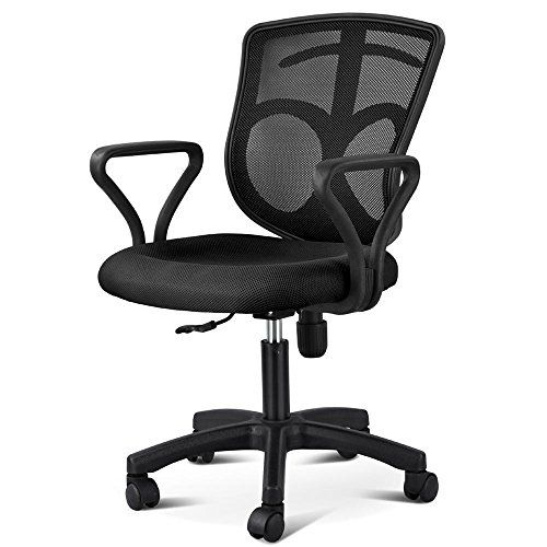 Gotobuy Black Office Desk Chair with Arms Fabric Mesh Seat Backrest For Sale https://bestofficedeskchairsreviews.info/gotobuy-black-office-desk-chair-with-arms-fabric-mesh-seat-backrest-for-sale/