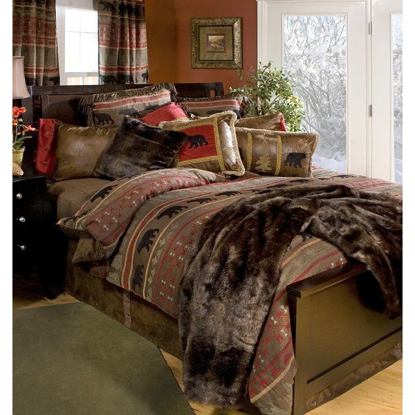 When It S Time To Rendezvous With The Rustic Just Follow The Arrows To This Collection Where The Lumbe Country Bedding Sets Country Bedding Rustic Comforter