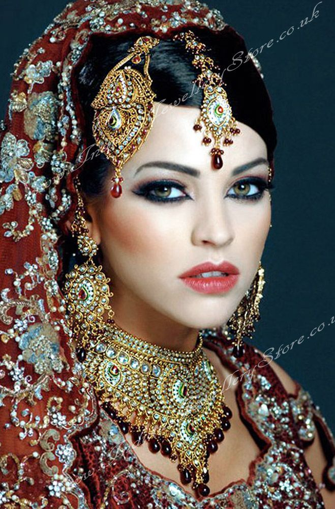indian wedding hairstyle gallery%0A Indian bridal jewellery  definitely a weakness of mine  colours  opulent  and very exotic