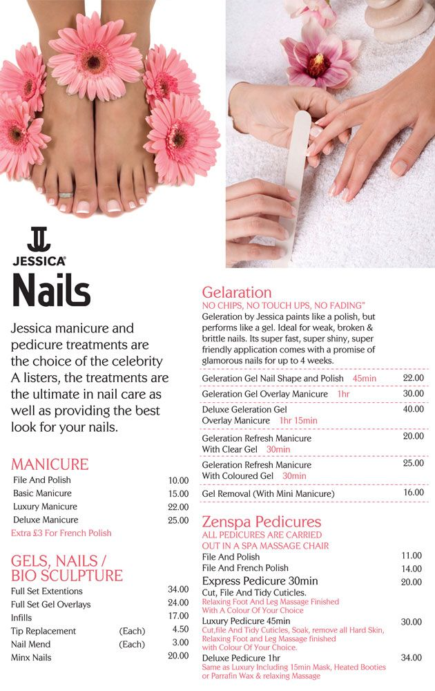 Nail care prices