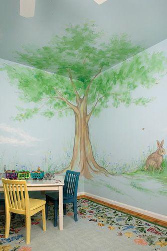 Nursery Wall Murals Hand Painted Custom Baby Wall Murals