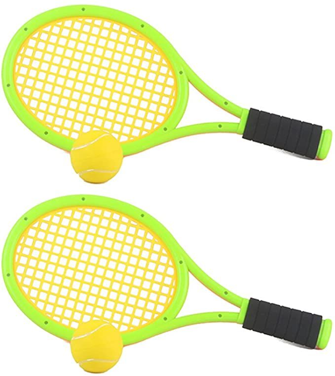 Amazon Com Fenglintech One Set Of Elastic Tennis Racket Children S Outdoor Sports Toys Green Sports Outdoors In 2020 Outdoor Kids Tennis Sports Toys