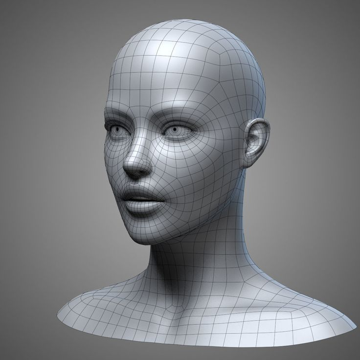 female head 3 3d model obj fbx stl blend mtl 11 Female