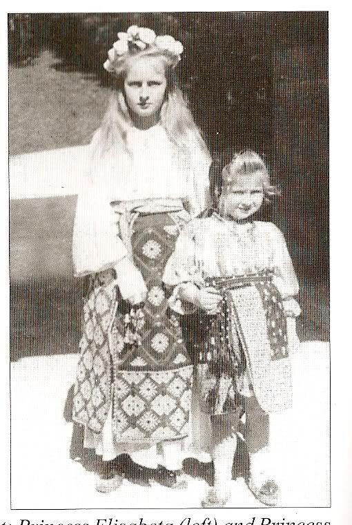 Elisabeta (Lisaveta) și Maria (Mărioara, Mignon), c. 1904.